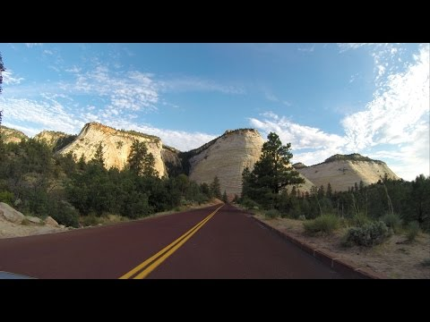 Highway 9 through Zion National Park Utah, the best scenic road in the USA
