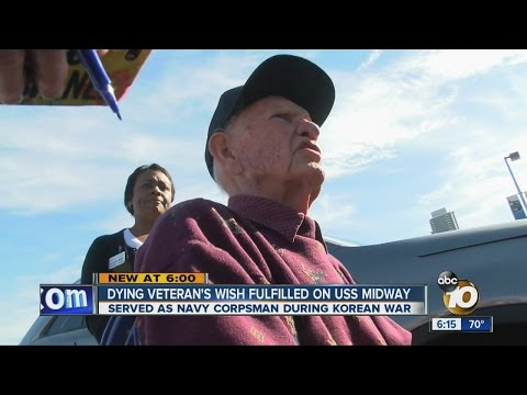 Dying veteran's wish fulfilled on USS Midway