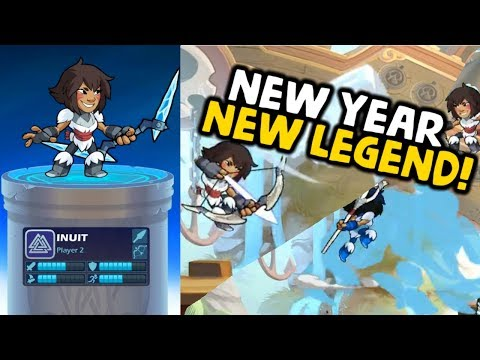 NEW LEGEND INUIT! BOW & SPEAR! [Brawlhalla Gameplay]