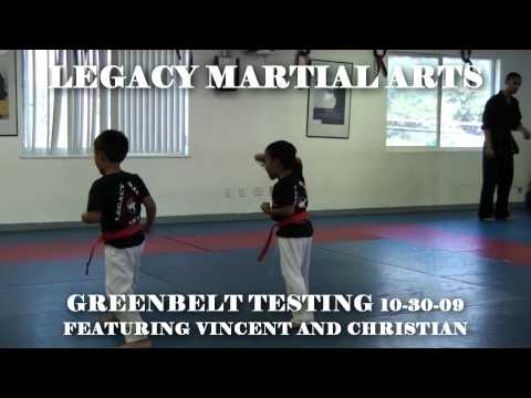 Legacy Martial Arts Green Belt Testing for Karate 10-30-09