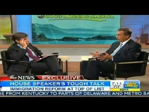 John Boehner Defends Barack Obama for NSA's Spying on the US | GMA Interview PRISM
