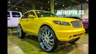 Infiniti FX 35 on 32 inch Savini Wheels in HD (Must See)