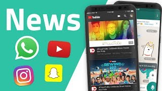 News zu WhatsApp, YouTube, Instagram und Snapchat