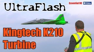 UltraFlash turbine sport jet MAIDEN FLIGHT (Kingtech K210 turbine jet engine)