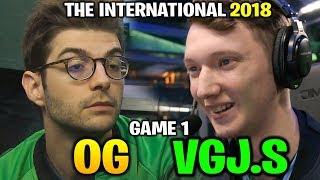 OG vs VGJ.STORM TI8 - FANTASTIC COMEBACK GAME - THE INTERNATIONAL 2018 Game 1