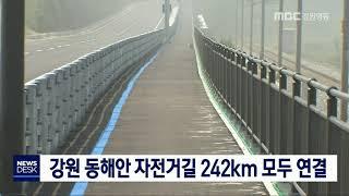 투/강원 동해안 자전거길 242km 모두 연결