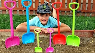 Johny Johny yes Papa Song \ Learn Colors with Shovel Toys for Kids & Baby