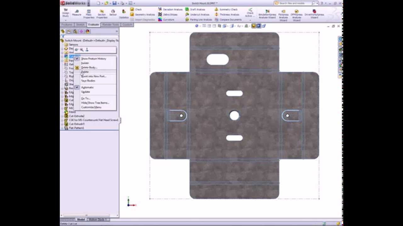 SolidWorks CAD step by step Video Tutorial & PDF Guide - YouTube