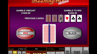 Sizzling Hot deluxe - €1.600 win in Gamble round