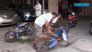 Cận cảnh tiêu hủy hàng chục xe máy tham gia bão đêm