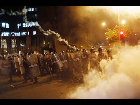 Cuts to clashes: Sticks, stones & tear gas in Peru