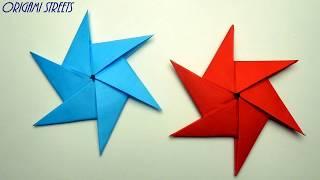 Как сделать Сюрикен из бумаги. Оригами сюрикен.