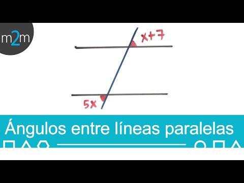 Ejercicios de ángulos en líneas paralelas - HD