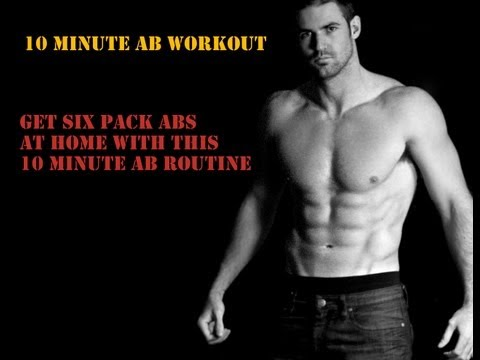 10 minute Home Abs Workout Routine - Get Six Pack Abs (HD)