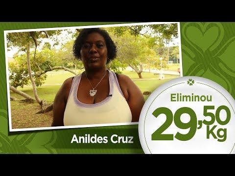 Anildes Cruz emagreceu 29,5kg