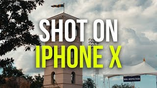 iPhone X 4k 60fps Cinematic Camera Test   Filmic Pro App and Zhiyun Smooth Q Gimbal