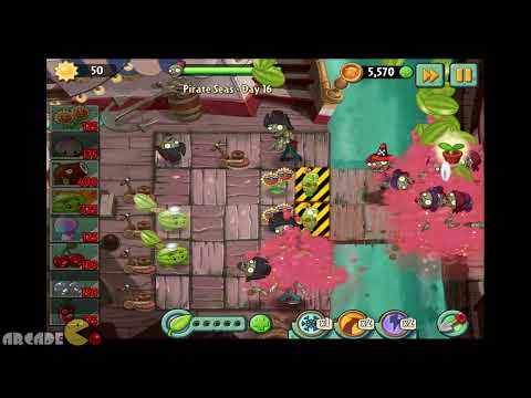 Plants Vs Zombies 2 Dark Ages: NEW PLANTS Mix Play,New JULY 12 Piñata Party