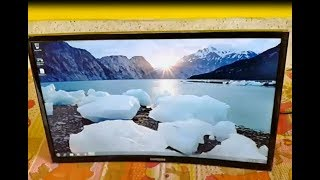 SAMSUNG CURVED MONITOR CF390 UNBOXING
