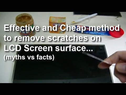 How to remove a scratch on the screen