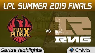 FPX vs RNG Highlights All Games LPL Summer 2019 Finals Fun Plus Phoenix vs Royal Never Give Up LPL H