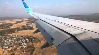 Garuda Indonesia PK-GMY landing at Sultan Hasanuddin Airport in Makassar