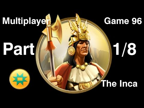 Civilization 5 Multiplayer 96: The Inca [1/8] ( BNW 6 Player Free For All) Gameplay/Commentary