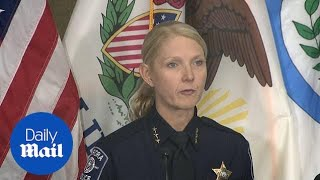 Police Chief Kristen Ziman announces victims of Aurora shooting