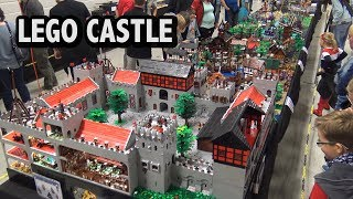 Giant LEGO Castle with Detailed Rooms & Battle | Skærbæk Fan Weekend 2018