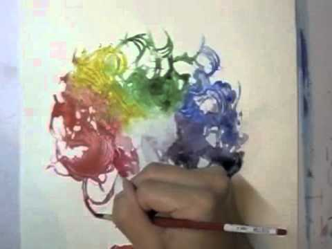 Watercolor Rainbow Hair Girl Illustration Art Demo by Leilani Joy