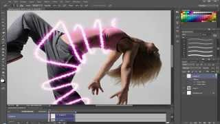 Photoshop CS6 Glowing Lines Tutorial