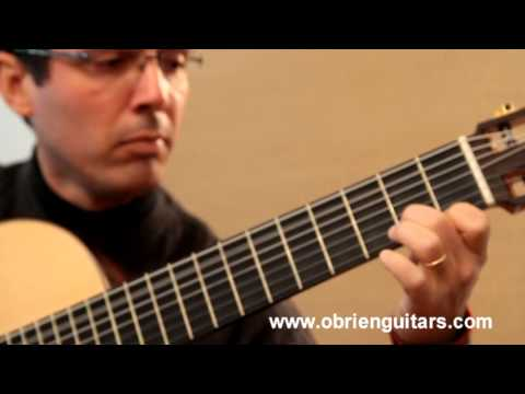 O'Brien Guitars 7 string classical model played by Euclides Marques