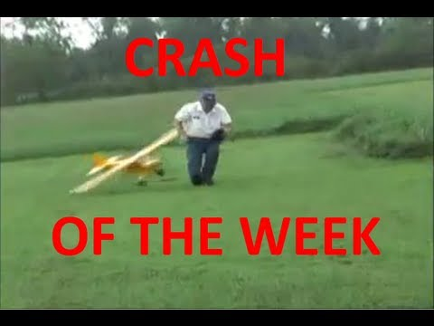 RC Plane Hits Old Man - Huge Rc Plane Hits Man - Crash Into People - RingebuRC