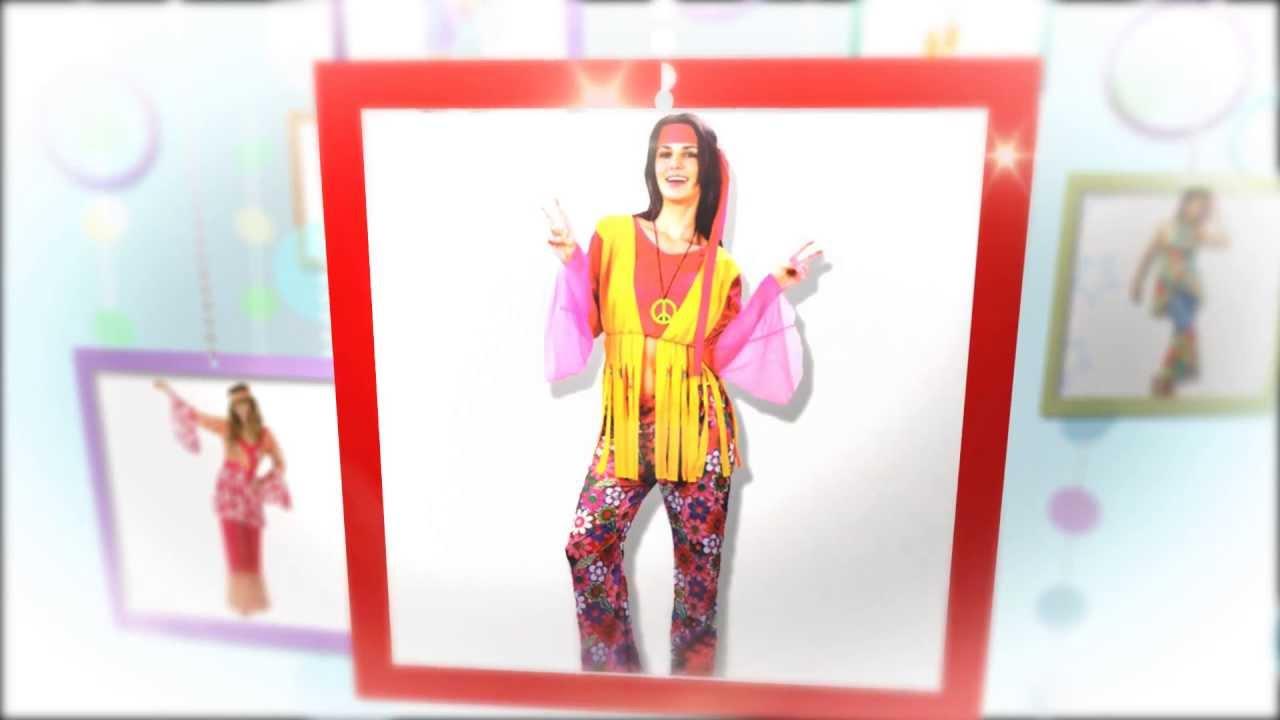 Disfraces hippie para mujer carnavales baratos youtube - Disfrazes para carnavales ...
