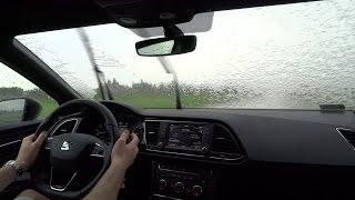 2016 SEAT Leon CUPRA 290 Heavy Rain Test Drive CZY DUŻA MOC & FWD DZIAŁA? TEST PL