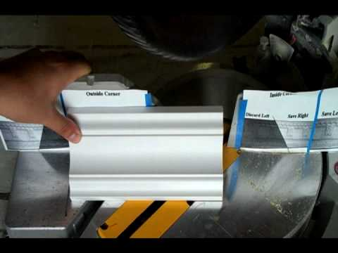 Miter Crown Moulding Cut The Perfect Inside Corner Youtube