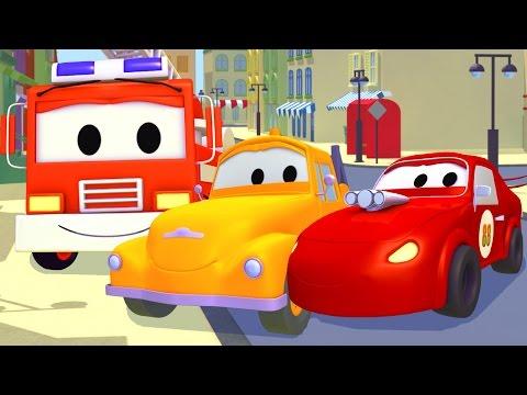Hasičské Auto, Sanitka, Policejní Autoa Odtahový Vůz Tom | Animák Z Prostředí Staveniště S Auty A Ná