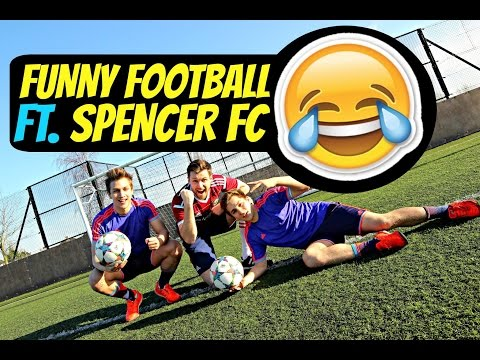 SkillTwins FUNNY FOOTBALL Challenges ft. Spencer FC ★