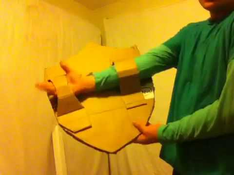 How to make a cardboard sward .shield from legend of zelda