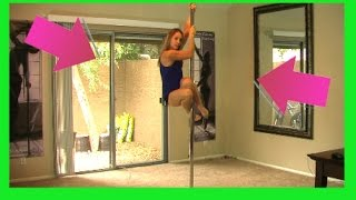 How To Pole Dance Video Lesson - *POLE DANCING CLASSES* For Beginners*