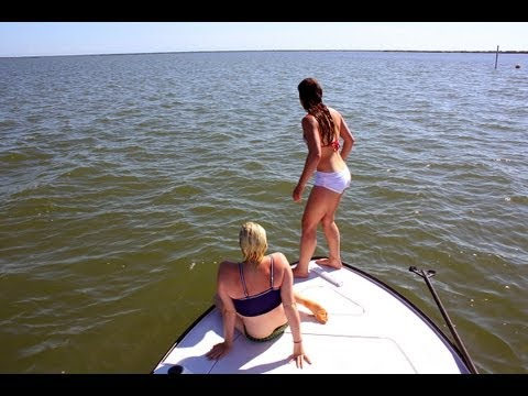 Sexy Girls Fishing the Mosquito Lagoon