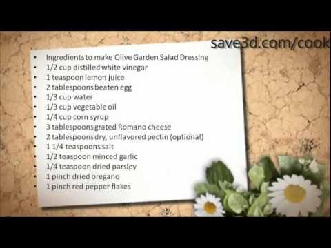 Secret Recipe How To Make Olive Garden Salad Dressing