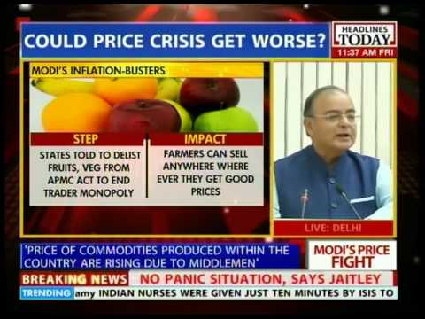 Arun Jaitley speaks on food inflation