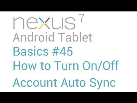 how to change android nexus default google account