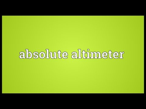 Header of absolute altimeter