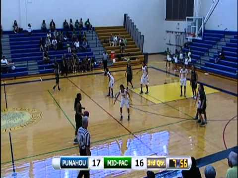 2013 Girls Basketball: Punahou vs. Mid-Pacific Institute (January 16, 2013)