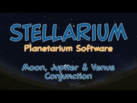 Stellarium Planetarium Software - February 2012 Jupiter & Venus Conjunction