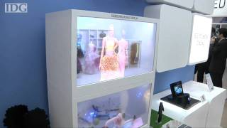 FPD: Samsung shows high-tech, see-through window displays