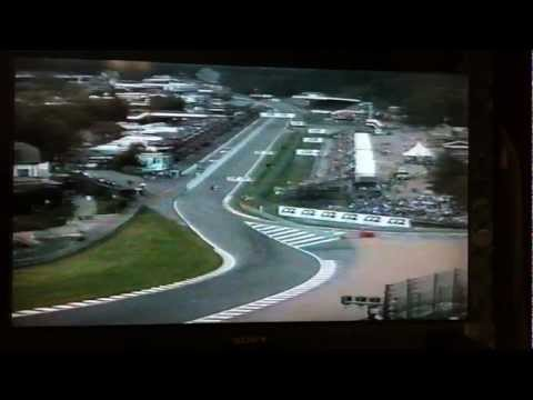 Villeneuve and Zonta attack Eau Rouge 1999