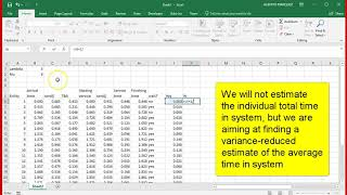 MM1 simulation in Excel