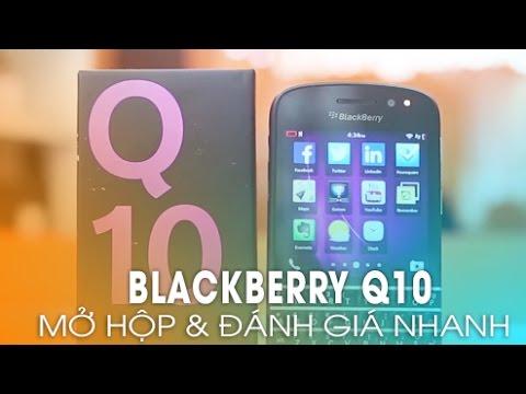 BlackBerry Q10 chính hãng giá rẻ! - Mở hộp và trên tay